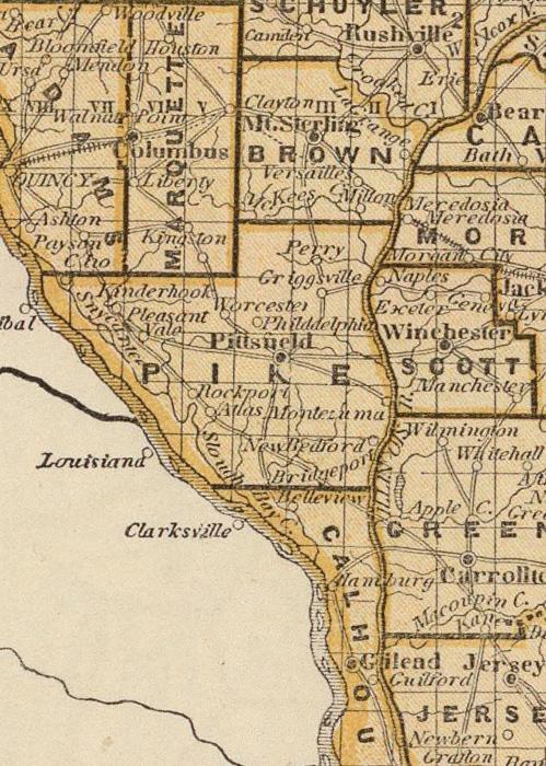 New philadelphia illinois 1845 map 1845 map of illinois gumiabroncs Gallery