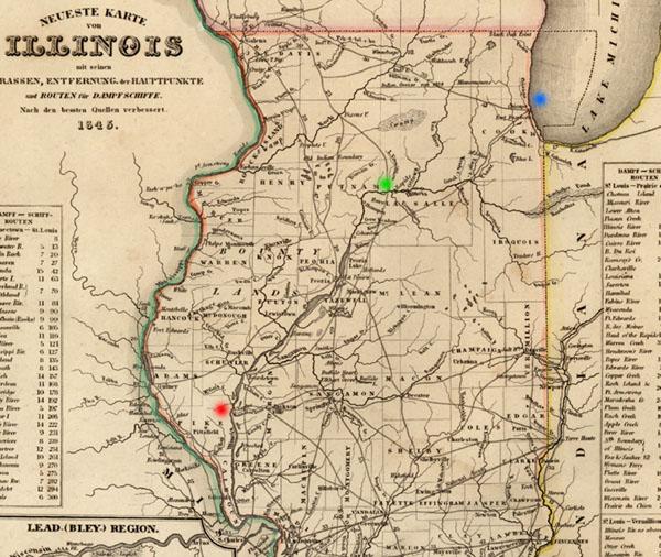 Developments in Illinois, 1845 on