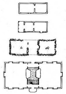 examples of Yoruba, Haiti, African-American, and Anglo-American house plans